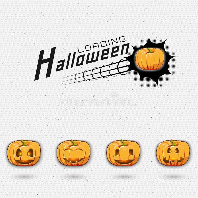 Счастливые логотипы и ярлыки значков хеллоуина для любых иллюстрация вектора