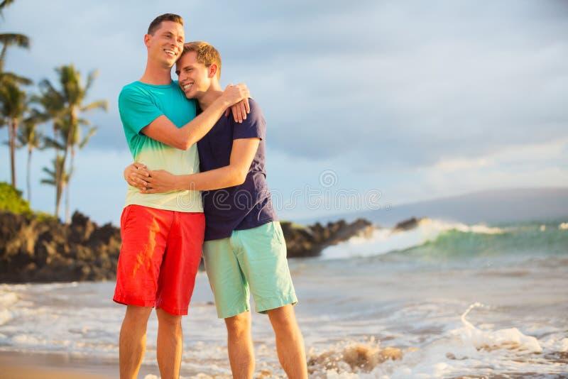 Счастливые пары гомосексуалиста стоковое изображение rf