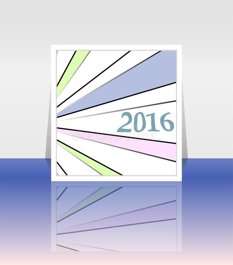 Счастливые поздравительная открытка Нового Года 2016 творческая бесплатная иллюстрация