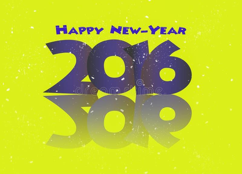 Счастливые разрешения Нового Года 2016 иллюстрация вектора