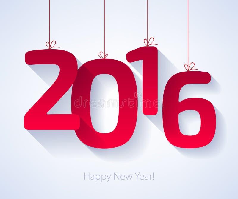 Счастливые символ Нового Года 2016 красочный иллюстрация штока