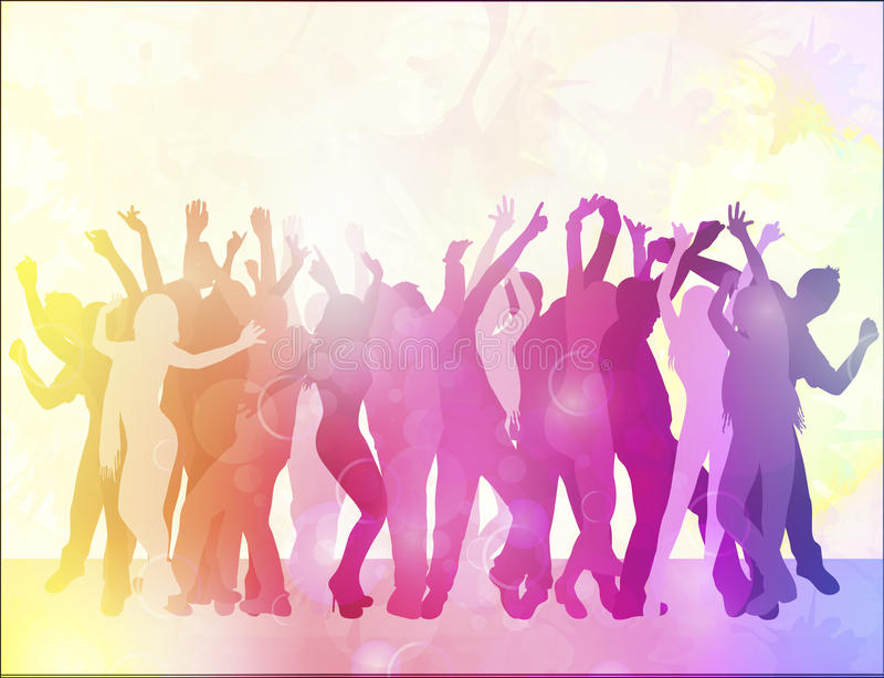 Счастливые люди танцев бесплатная иллюстрация