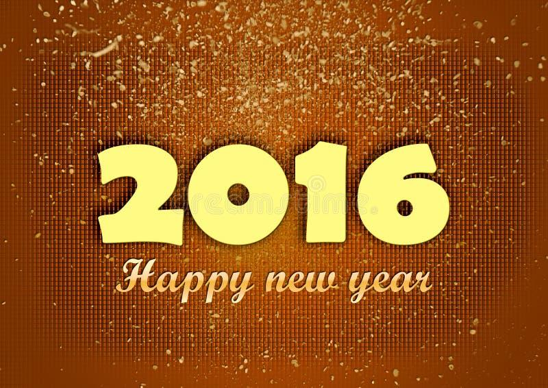 Счастливые яркие блески Нового Года 2016 золотые красные бесплатная иллюстрация
