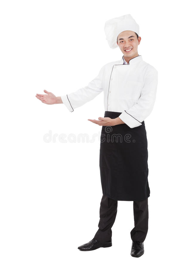 Счастливый вождь с радушным жестом стоковое фото