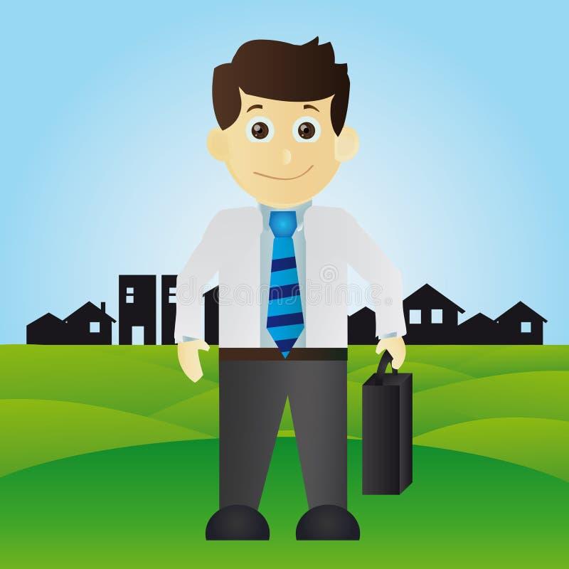Счастливый бизнесмен бесплатная иллюстрация