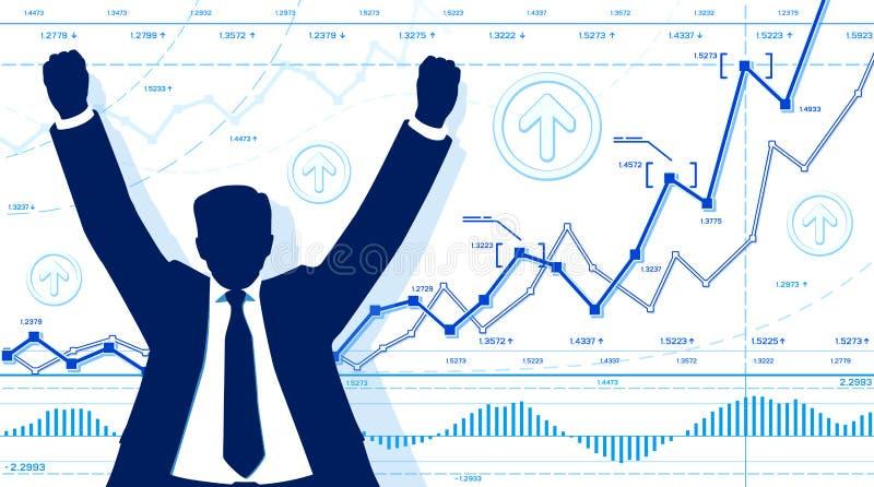 Download Счастливый бизнесмен иллюстрация вектора. иллюстрации насчитывающей финансист - 33729469