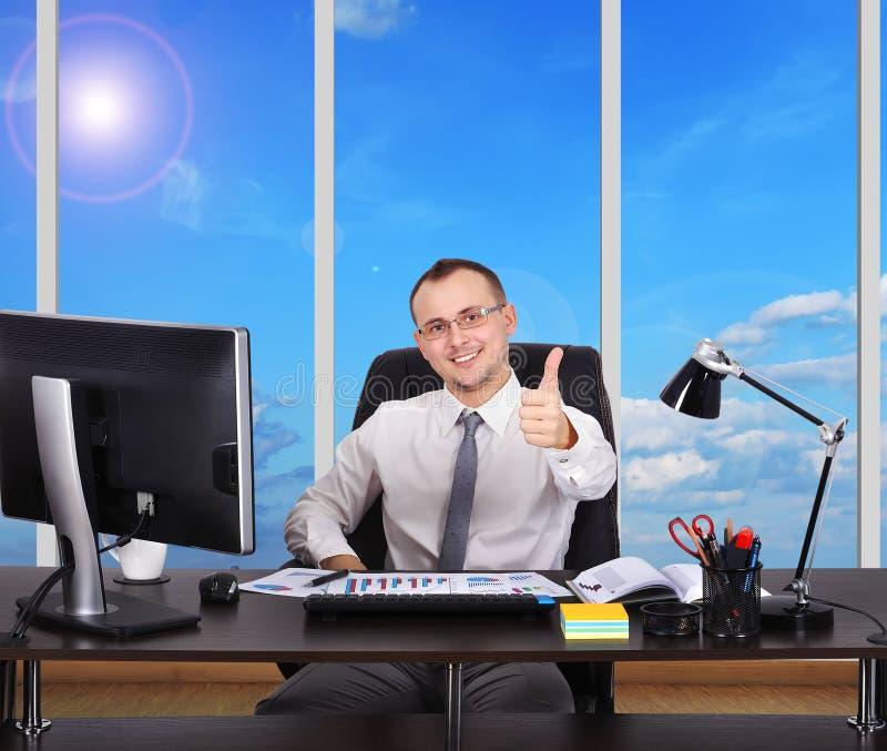 Счастливый бизнесмен стоковые изображения