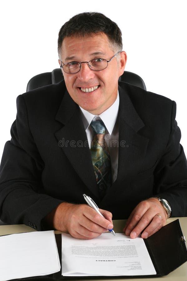 Счастливый бизнесмен стоковые изображения rf