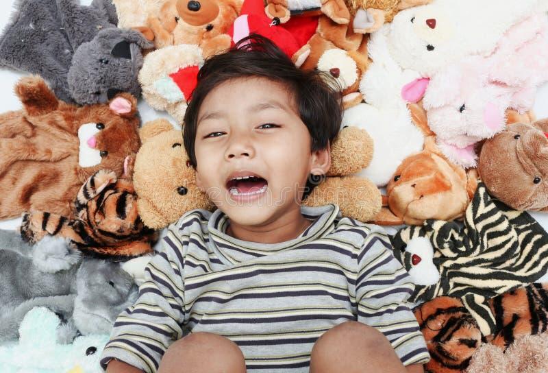 Счастливый большой смеяться над стоковое фото rf