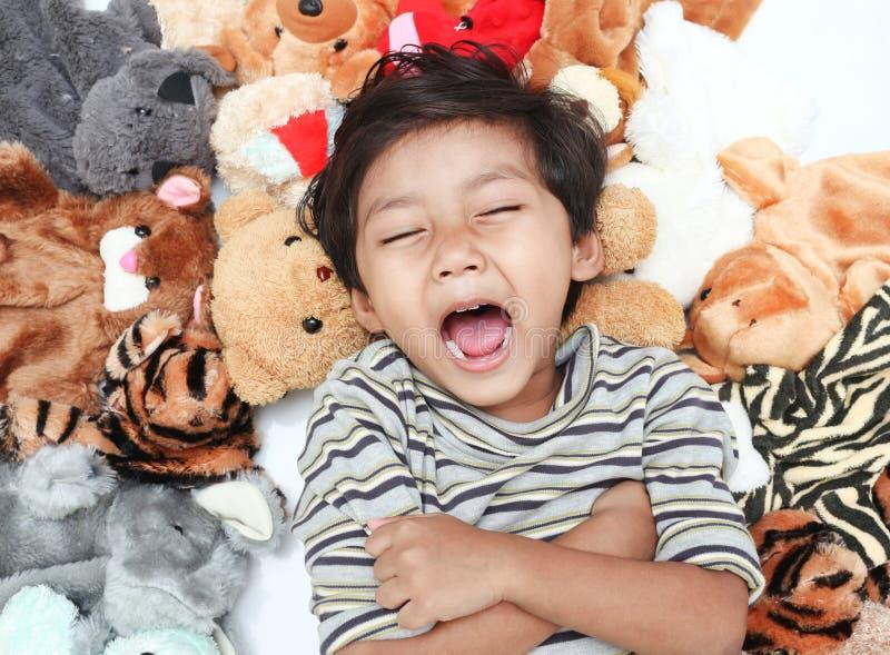 Счастливый большой смеяться над стоковое изображение