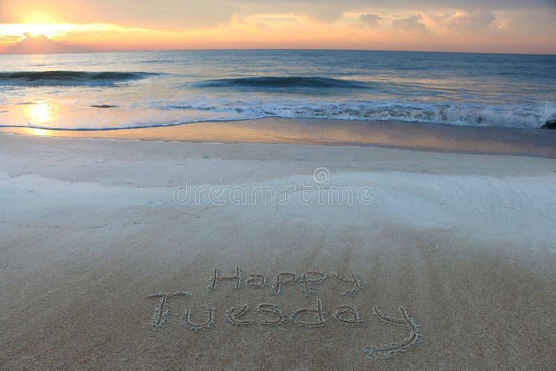 Счастливый вторник стоковое изображение