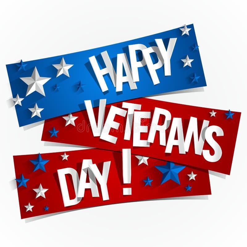 Счастливый день ветеранов иллюстрация вектора