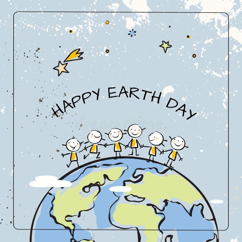 Счастливый день земли иллюстрация штока