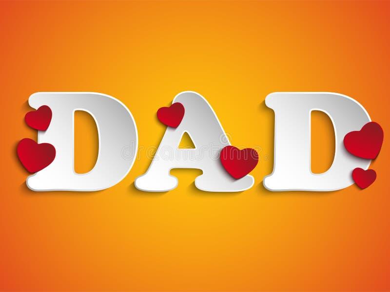 Download Счастливый день отцов с предпосылкой сердца Иллюстрация вектора - иллюстрации насчитывающей торжество, ярлык: 40584936