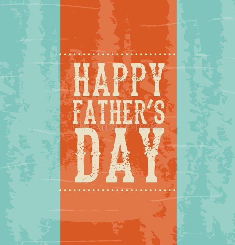 Счастливый день отцов иллюстрация штока
