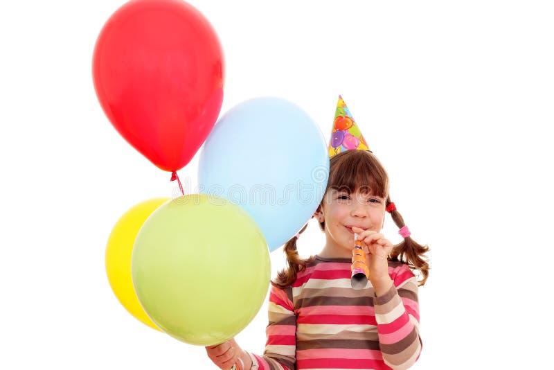 Счастливый день рождения маленькой девочки стоковое изображение rf
