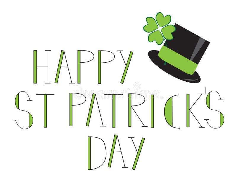 Счастливый день St. Patricks иллюстрация штока