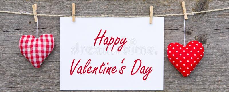 Счастливый знак дня Valentines стоковая фотография rf