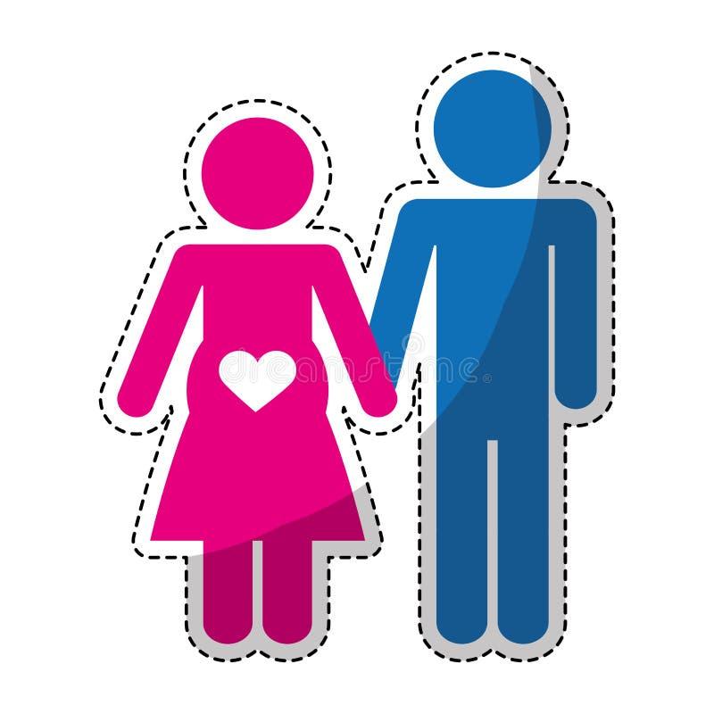 Download Счастливый значок пар иллюстрация вектора. иллюстрации насчитывающей отношение - 81801896