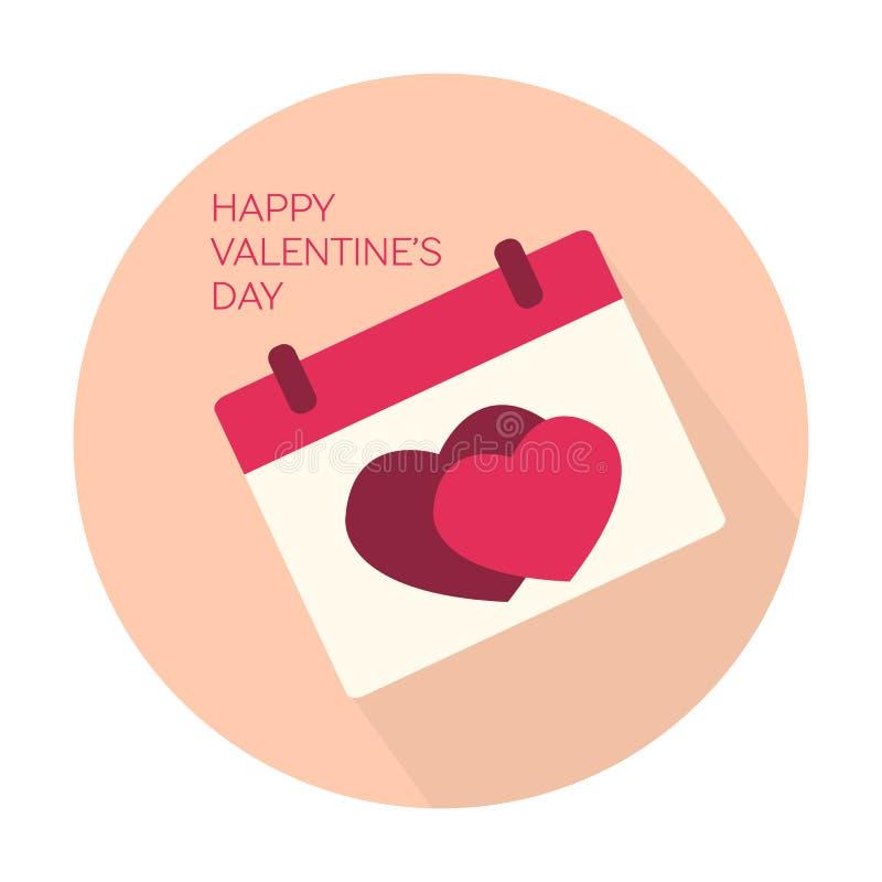 Счастливый значок собрания дня валентинок иллюстрация вектора