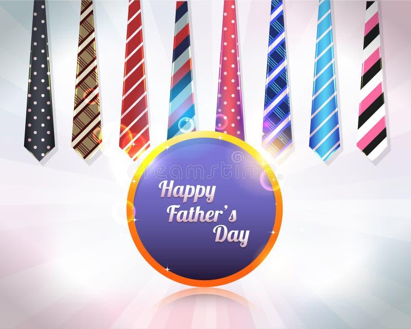 Счастливый дизайн вектора дня отцов иллюстрация вектора