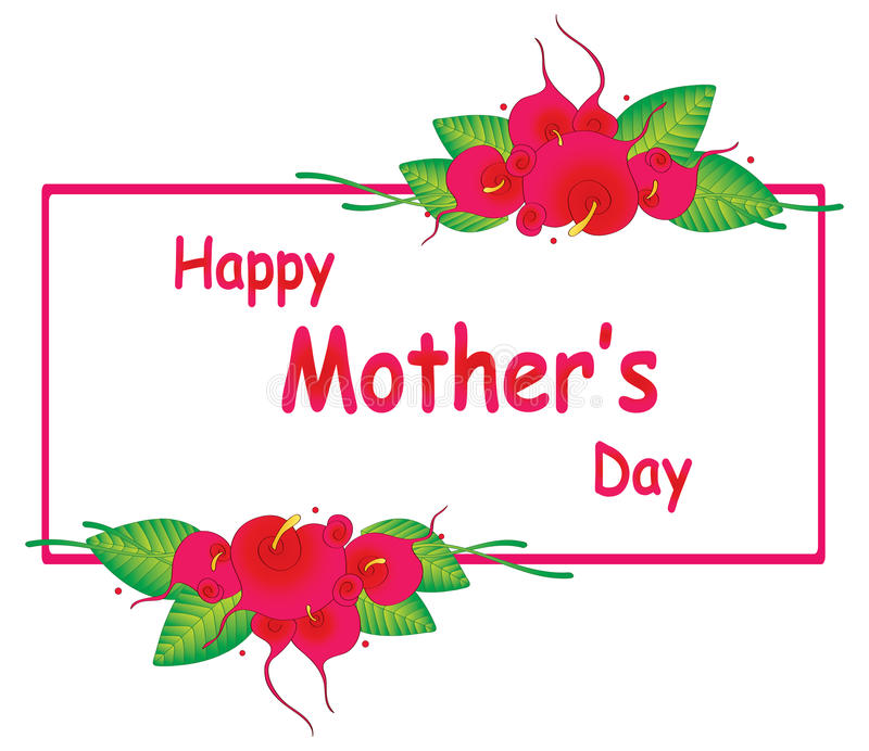 Счастливый дизайн Дня матери иллюстрация вектора