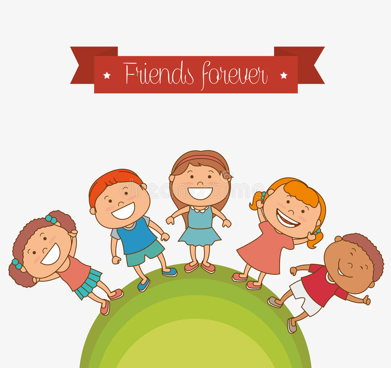Счастливый дизайн детей бесплатная иллюстрация