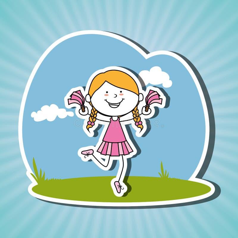 Счастливый дизайн детей иллюстрация вектора