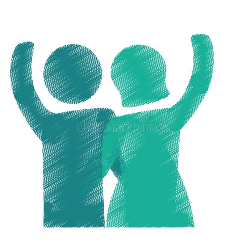 Download Счастливый дизайн пар иллюстрация вектора. иллюстрации насчитывающей конструкция - 81802015