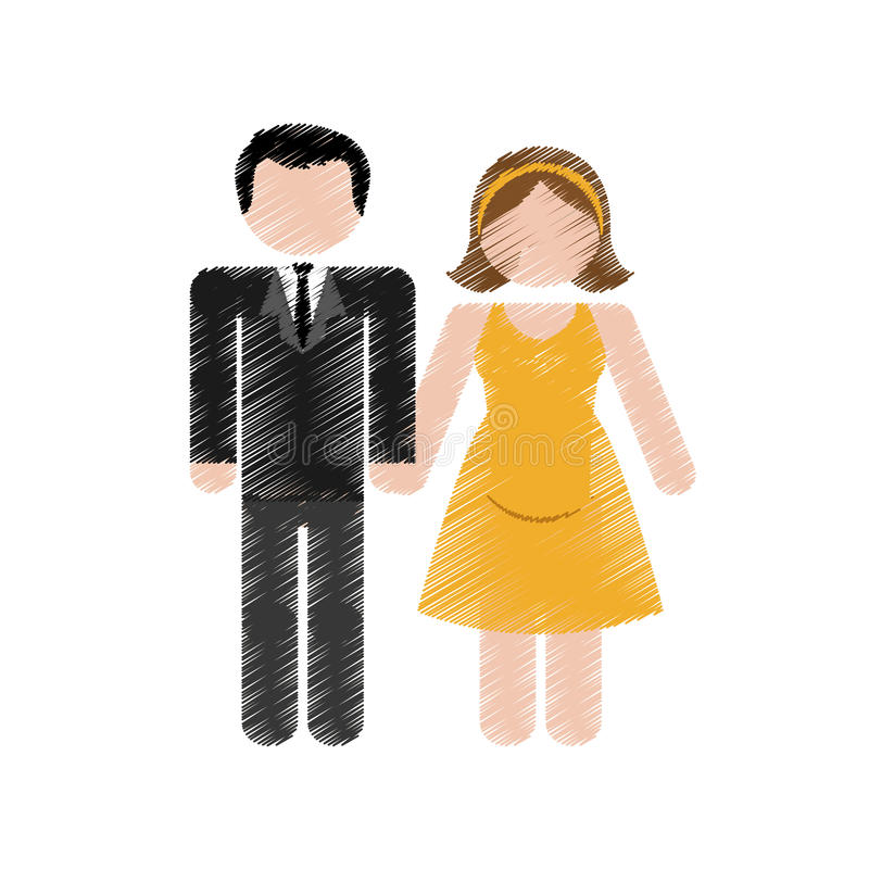 Download Счастливый дизайн пар иллюстрация вектора. иллюстрации насчитывающей карточка - 81802088