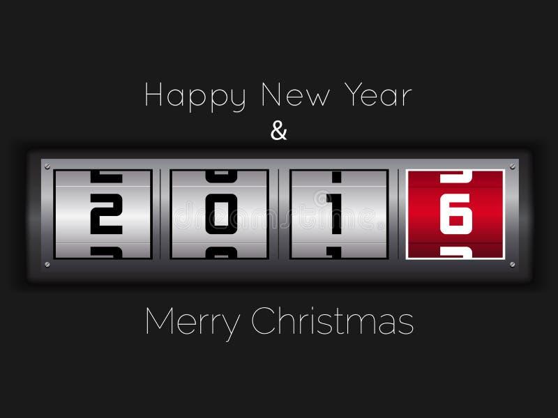 Счастливый дизайн текста Нового Года 2016 стоковые фотографии rf