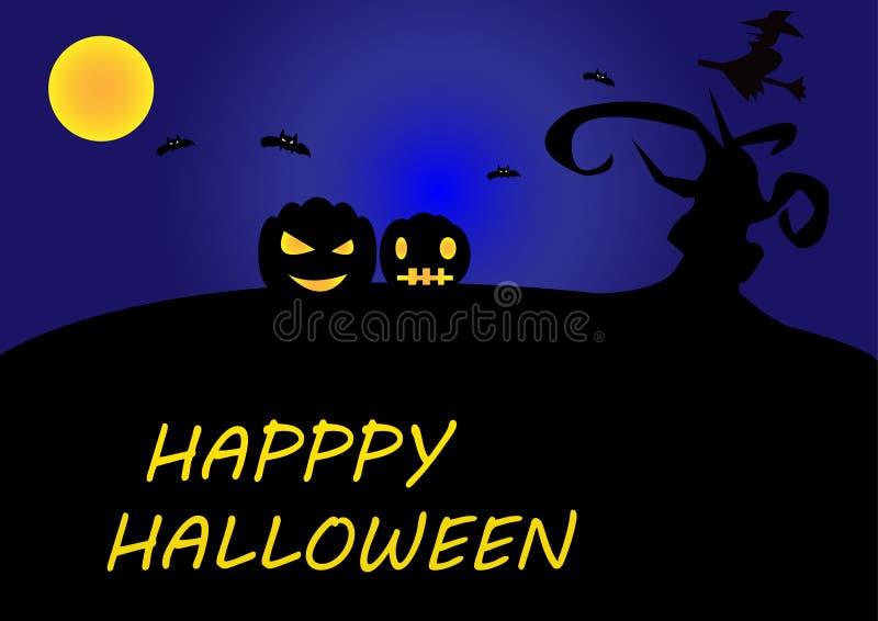 Счастливый иллюстратор предпосылки хеллоуина стоковое фото