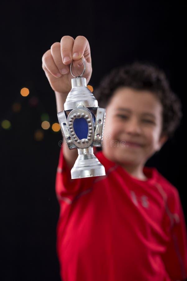 Счастливый маленький ребенок с фонариком Рамазана стоковые фотографии rf
