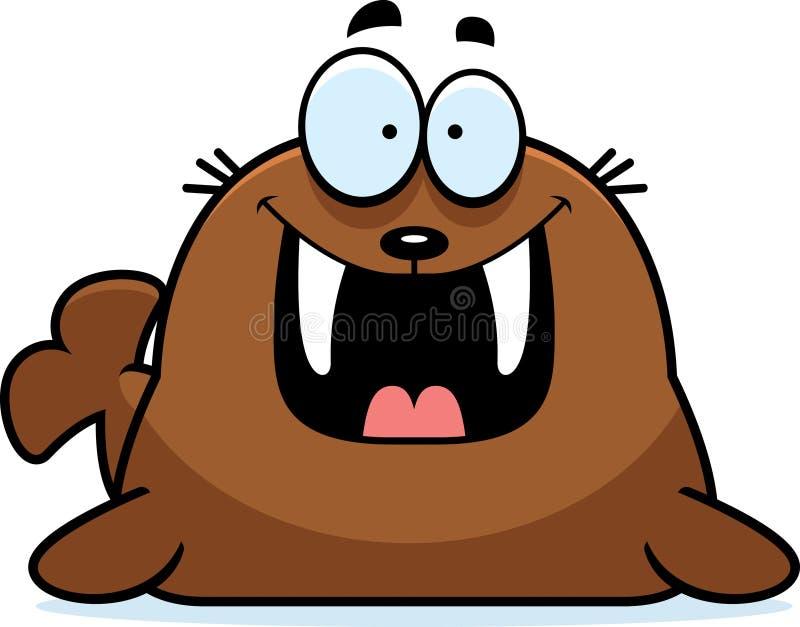 Счастливый морж шаржа бесплатная иллюстрация