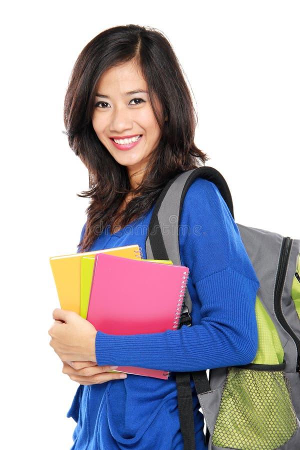 Download Счастливый молодой азиатский студент Стоковое Изображение - изображение насчитывающей экземпляр, девушка: 37927093