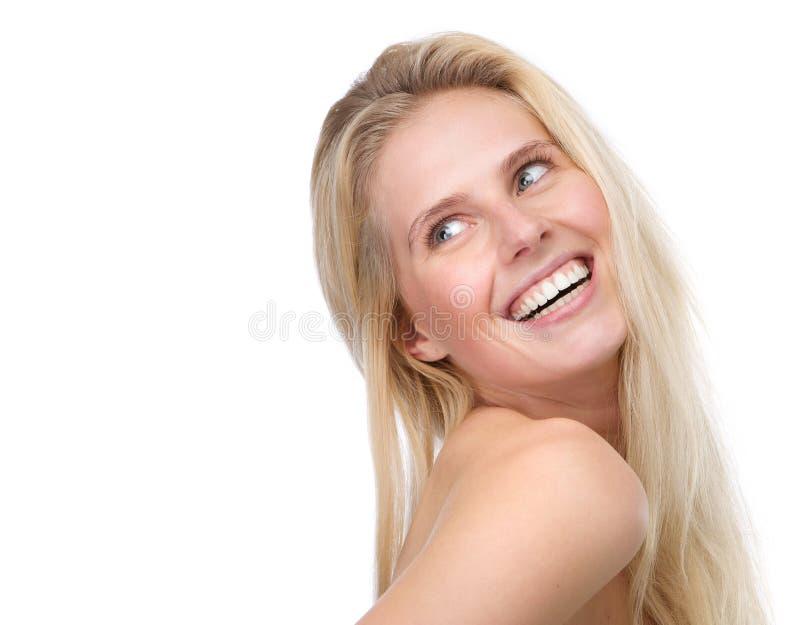 Download Счастливый молодой белокурый усмехаться женщины Стоковое Фото - изображение насчитывающей уверенно, blondish: 40583102
