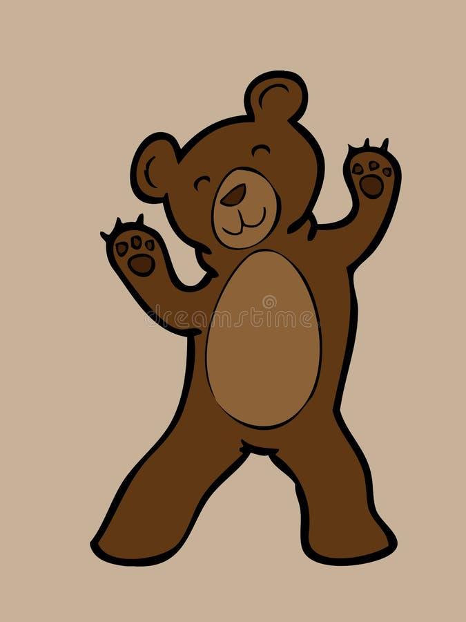 Download Счастливый молодой бурый медведь Иллюстрация вектора - иллюстрации насчитывающей характер, ангстрома: 40590902