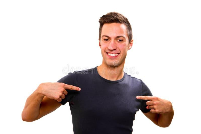счастливый молодой человек стоковые изображения rf