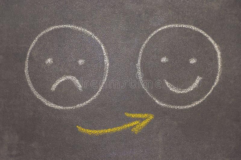 Счастливый, несчастный стоковая фотография rf