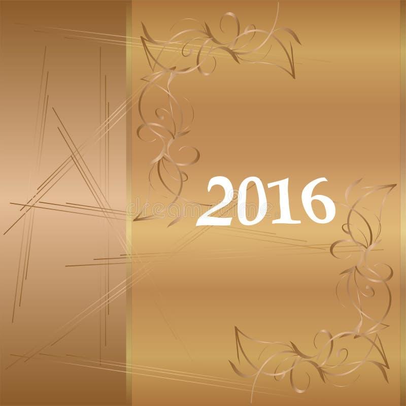 Счастливый Новый Год 2016 Год обезьяны иллюстрация штока