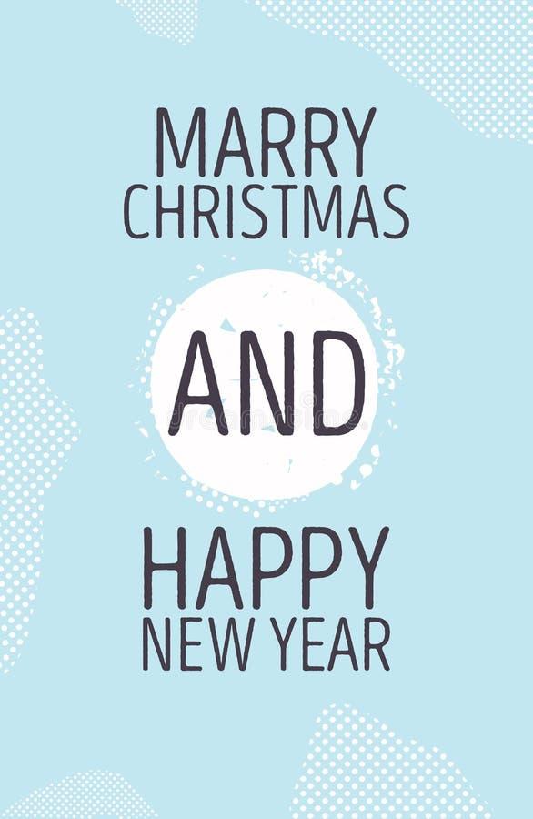 Счастливый Новый Год и женится год сбора винограда рождественской открытки ретро бесплатная иллюстрация