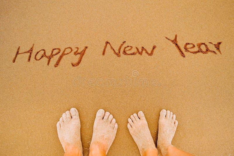 Счастливый Новый Год к любовникам стоковое фото rf