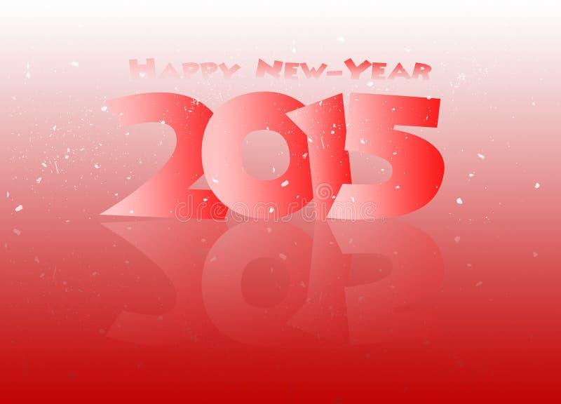 Счастливый Новый Год 2015 отраженный в черноте иллюстрация вектора