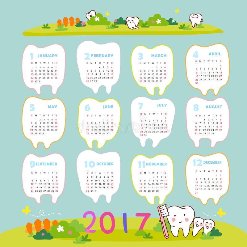 Счастливый Новый Год с зубом иллюстрация штока