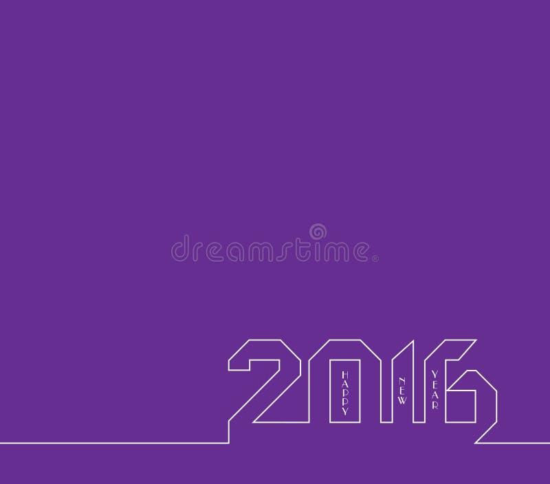 Счастливый Новый Год 2016 Творческий дизайн поздравительной открытки Всеобщая предпосылка иллюстрация вектора