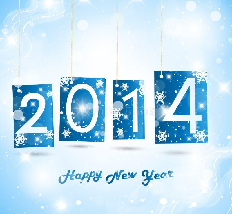 Счастливый Новый Год 2014 бесплатная иллюстрация