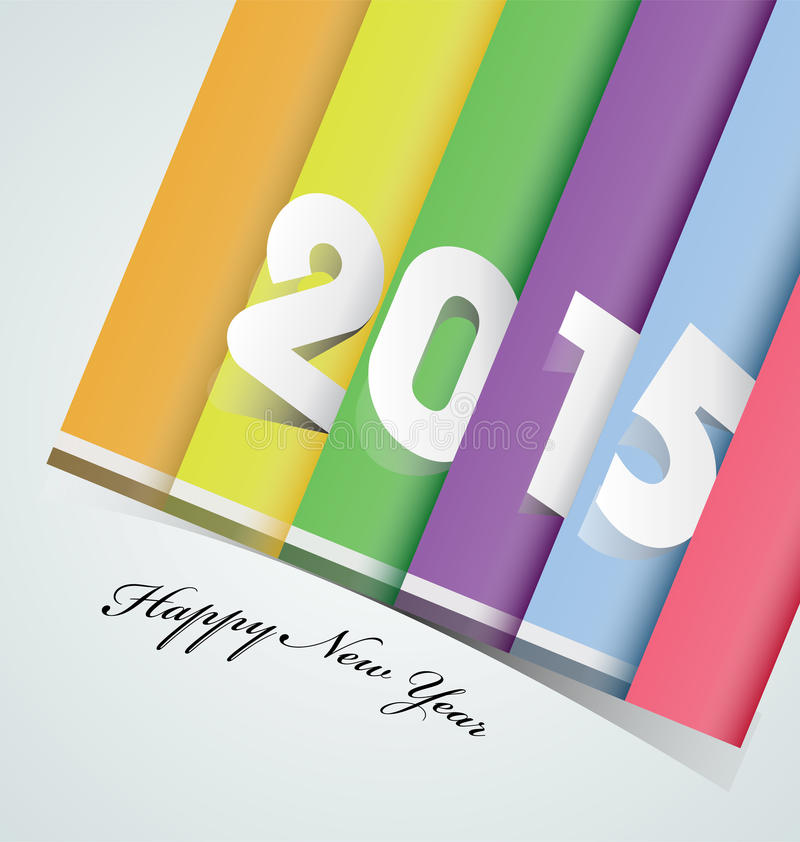 Download Счастливый Новый Год 2015 иллюстрация вектора. иллюстрации насчитывающей дело - 41650196