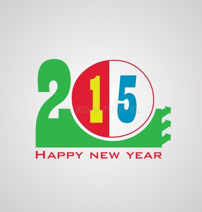 Download Счастливый Новый Год 2015 иллюстрация вектора. иллюстрации насчитывающей весело - 41650532