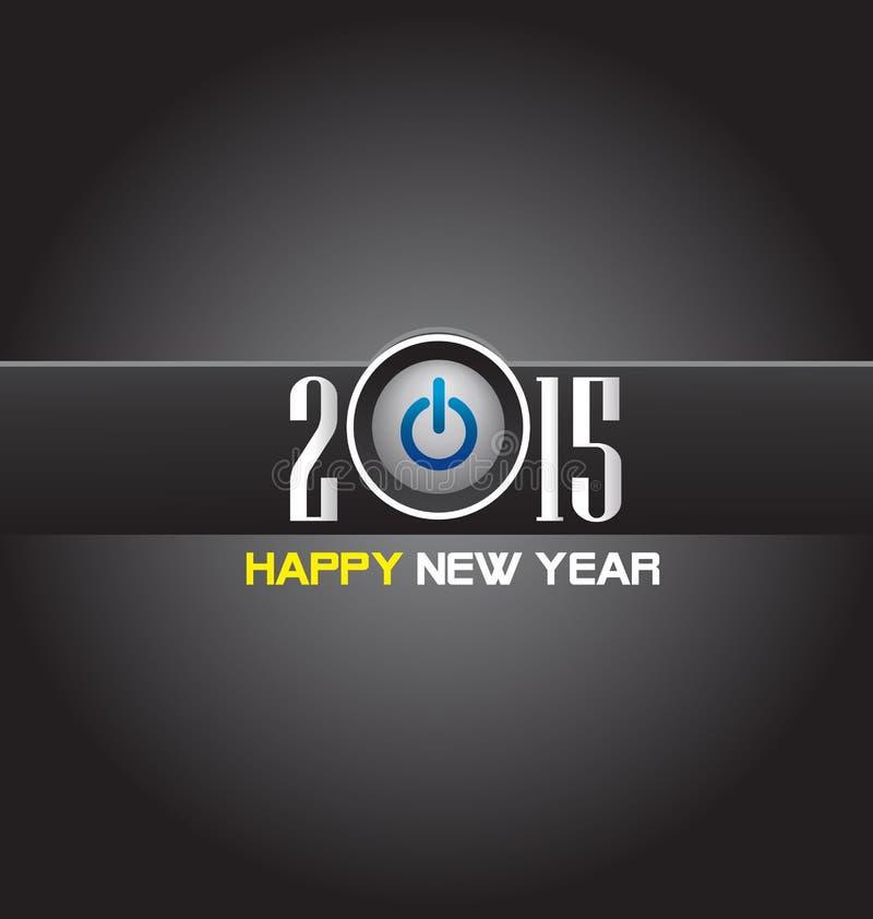 Download Счастливый Новый Год 2015 иллюстрация вектора. иллюстрации насчитывающей ретро - 41650535