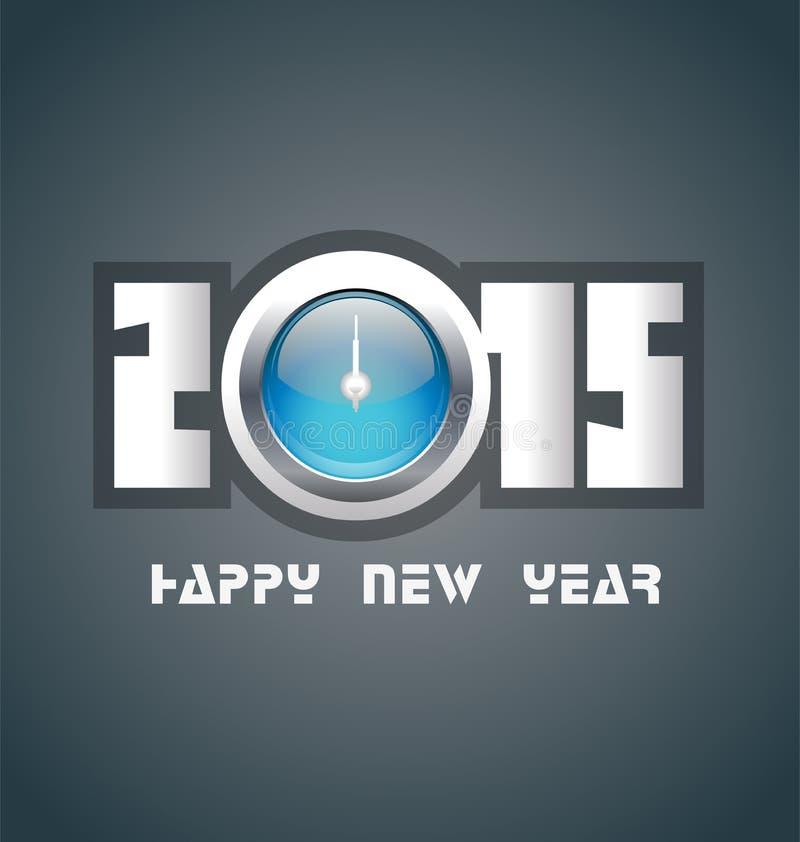 Download Счастливый Новый Год 2015 иллюстрация вектора. иллюстрации насчитывающей торжество - 41650622